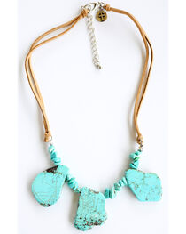 West & Co. Women's Large & Small Turquoise Stone Necklace, , hi-res