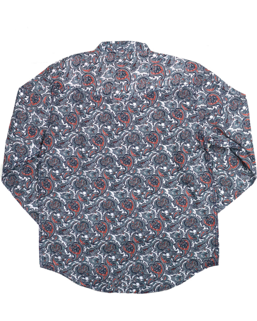 Cody James Men's Blue Paisley Patriot Long Sleeve Western Shirt , , hi-res