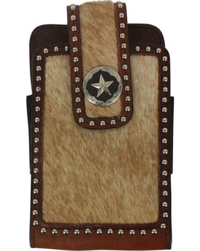 Cody James® Hair On Hide Cell Phone Case, Brown, hi-res