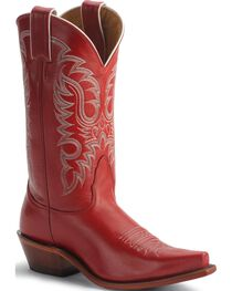 Nocona Red Legacy Cowgirl Boots - Snip Toe, , hi-res