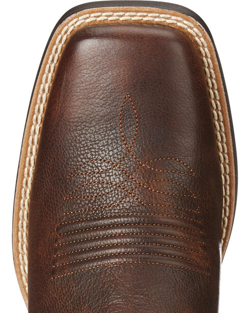 Ariat Women's Round Up Ryder Yukon Cowgirl Boots - Square Toe, Chocolate, hi-res