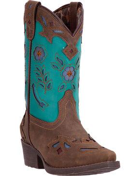 Laredo Girls' Little Kate Western Boots, Brown, hi-res