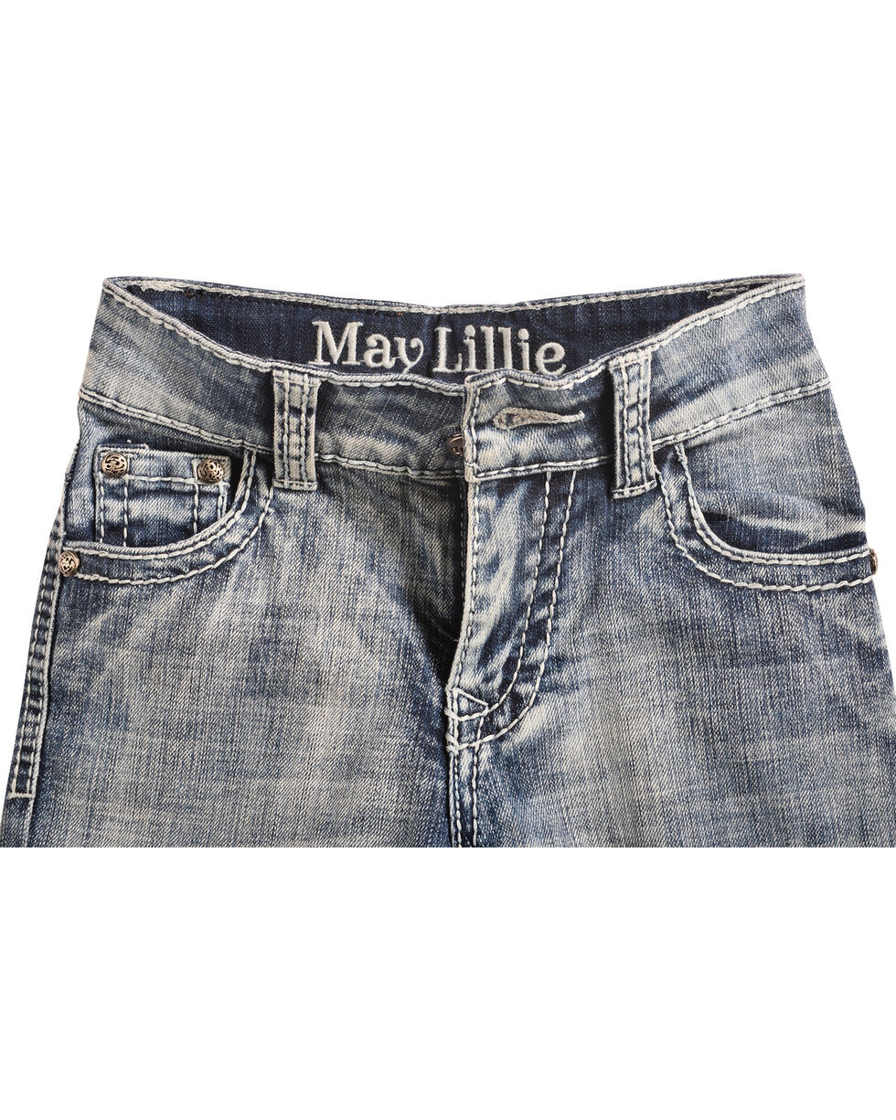 Cowgirl Legend May Lillie Girls' Faded Zig-Zag Jeans, , hi-res