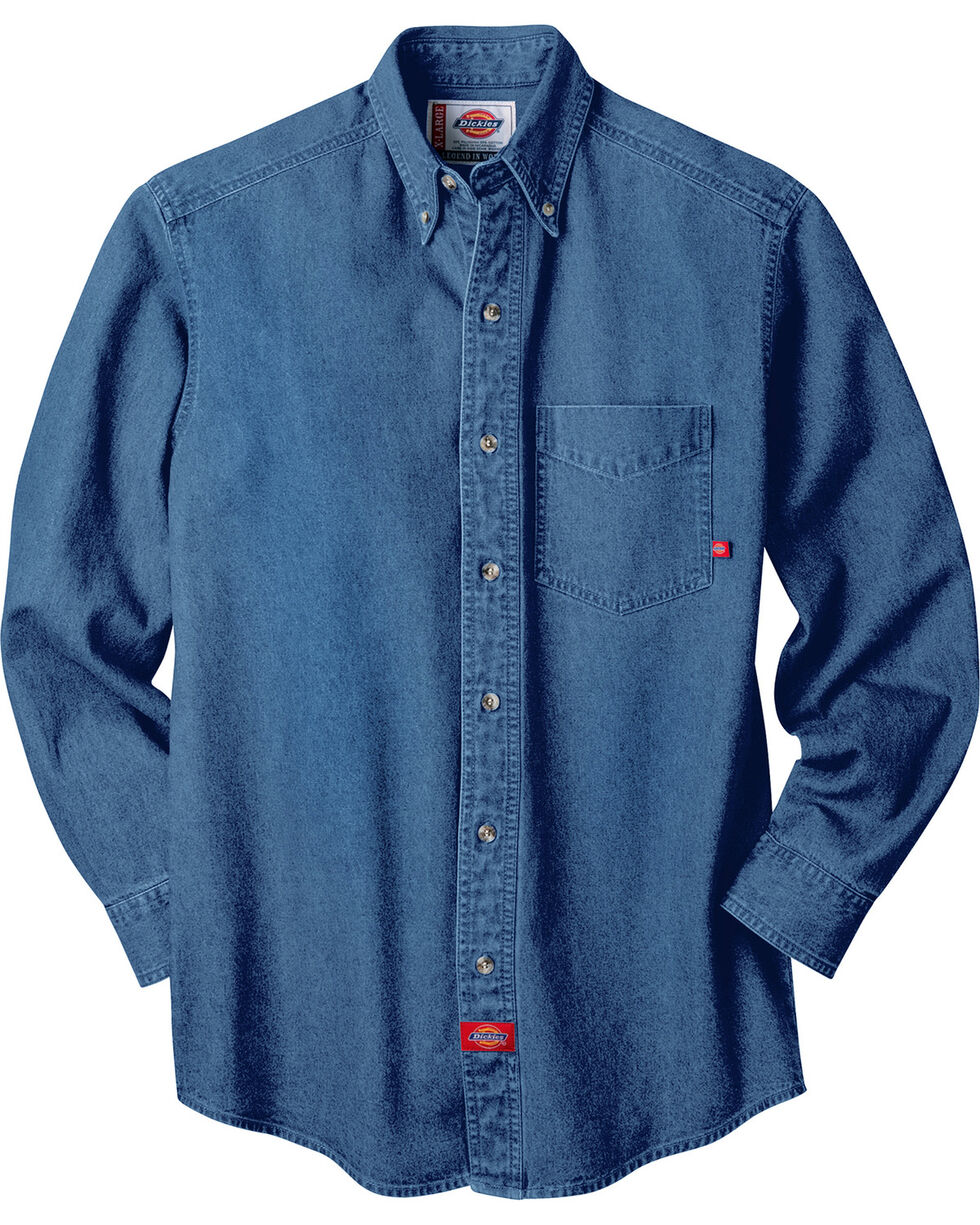 Dickies Stonewash Denim Work Shirt - Big & Tall, Stonewash, hi-res