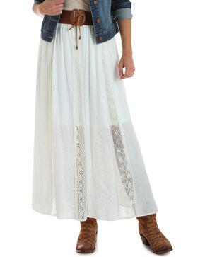 Wrangler Women's Ivory Boho Maxi Skirt , Ivory, hi-res