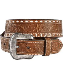 Nocona Embossed Cross Western Belt, , hi-res