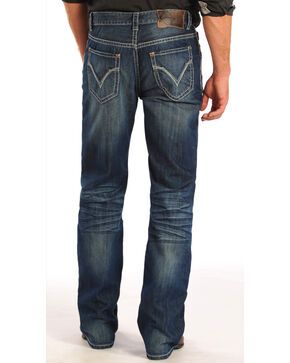 Rock and Roll Cowboy Double Barrel Ivory Pocket Jeans - Straight Leg  , Denim, hi-res