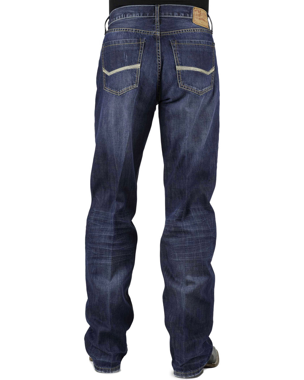 Stetson Modern Fit Bold Stitched Jeans, Denim, hi-res