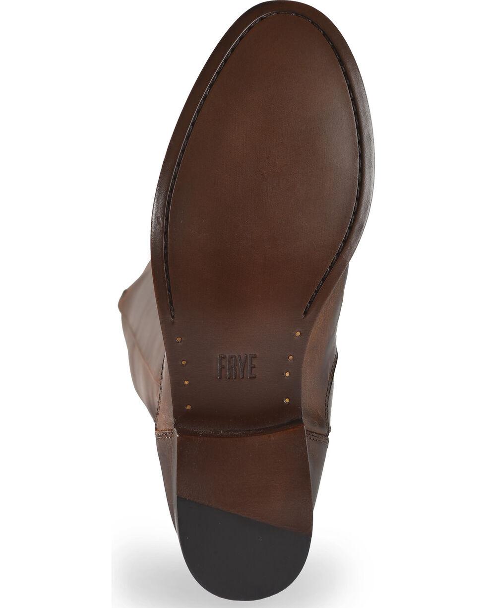 Frye Women's Chocolate Melissa Stud Back Zip Boots - Round Toe , Chocolate, hi-res