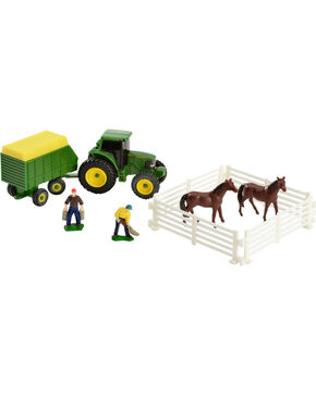 John Deere 10 Piece Farm Toy Set, Green, hi-res