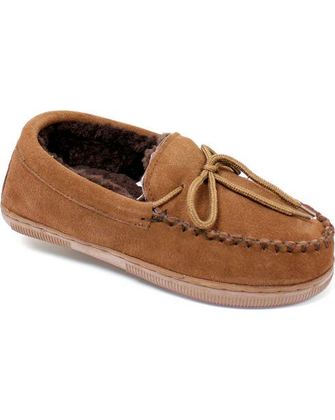 Lamo Women's Moccasins , Chocolate, hi-res