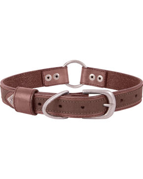 "Browning Brown Medium Leather Dog Collar - Medium 14 - 20"", Brown, hi-res"