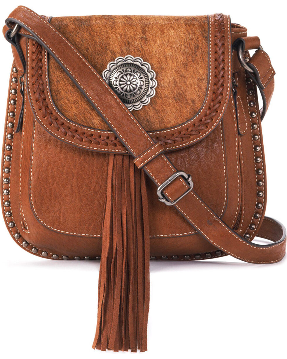 Blazin Roxx Women's Ella Messenger Bag, Brown, hi-res