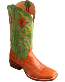 Twisted X Men's Ruff Stock Lime Cowboy Boots - Square Toe, , hi-res