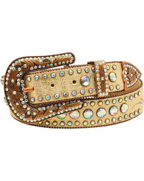 Nocona Women's Scroll Round Concho Belt, , hi-res