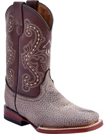 Ferrini Girls' Elephant Print Western Boots - Square Toe, , hi-res