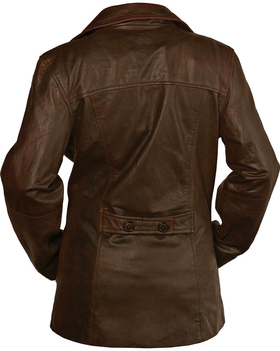 STS Ranchwear Women's Selah Brown Leather Jacket, Brown, hi-res