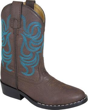Smoky Mountain Toddler Boys' Monterey Western Boot - Round Toe, Brown, hi-res