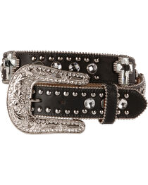 Blazin Roxx Bling Cross Leather Belt, , hi-res