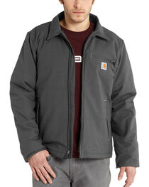 Carhartt Men's Grey Quick Duck Livingston Jacket - Big & Tall , Charcoal Grey, hi-res