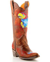 Gameday University of Kansas Cowgirl Boots - Pointed Toe, , hi-res