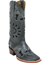 Ferrini Women's Black Masquerade Western Boots - Square Toe , , hi-res