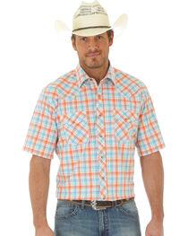 Wrangler 20X Men's Short Sleeve Plaid 2 Pocket Snap Button Shirt, , hi-res