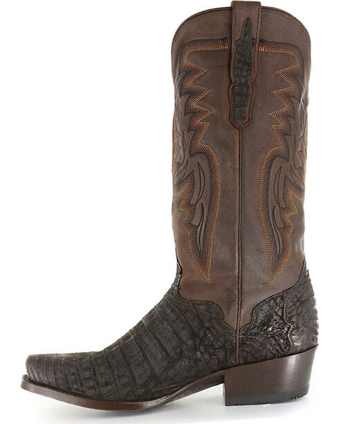 El Dorado Men's Caiman Square Toe Western Boots, Chocolate, hi-res