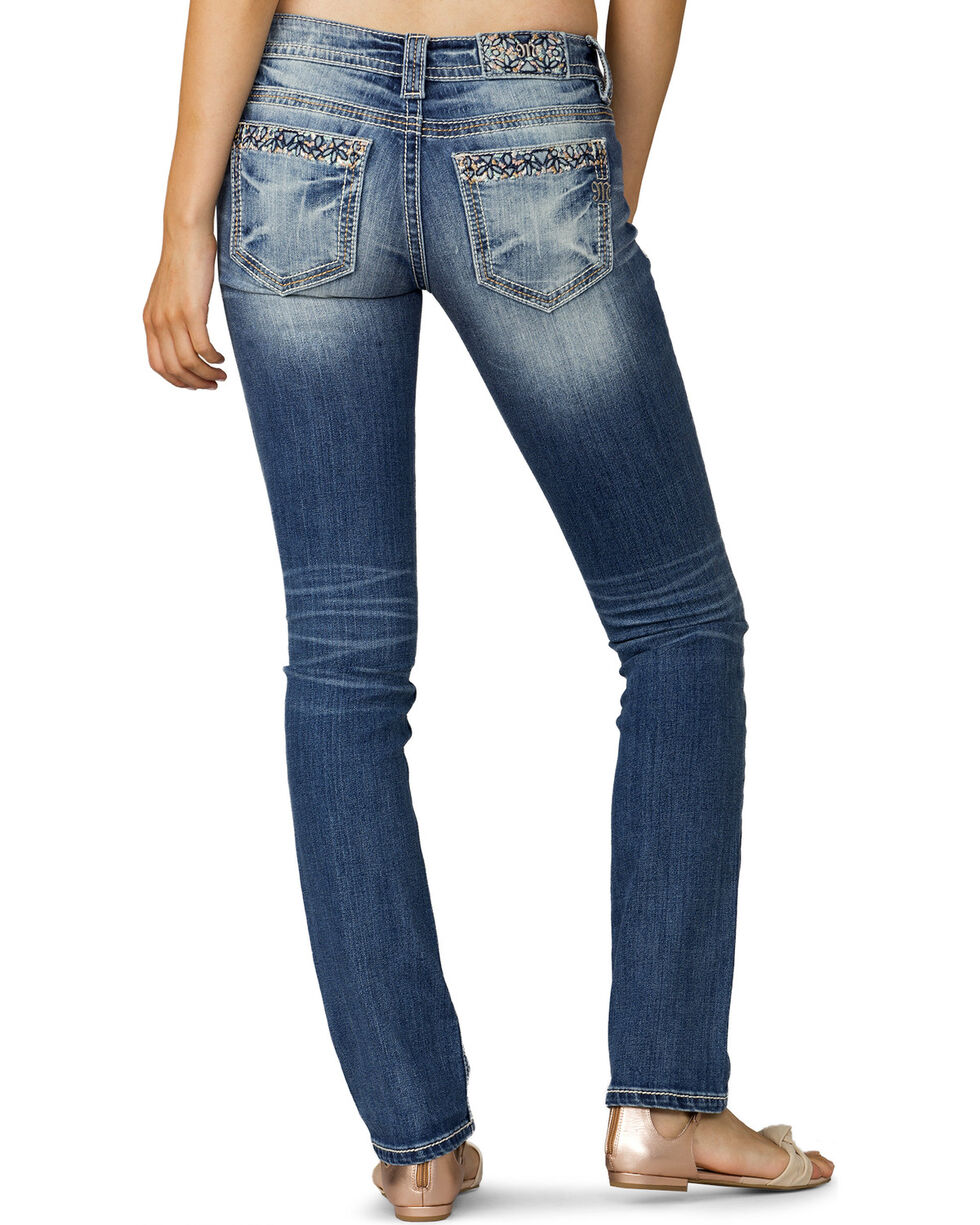 Miss Me Women's Indigo Garden View Low-Rise Jeans - Extended Sizes, , hi-res