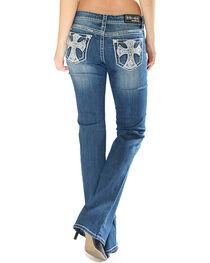 Grace in LA Women's Cross Pocket Jeans - Boot Cut, , hi-res