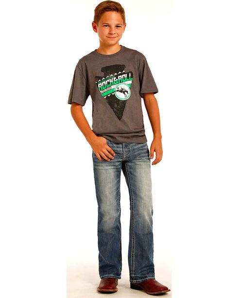 Rock & Roll Boys' BB Gun Straight Leg Denim, Indigo, hi-res