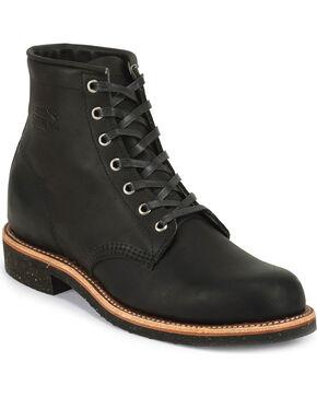 "Chippewa Men's Black Odessa 6"" Lace-Up Service Boots - Round Toe, Black, hi-res"