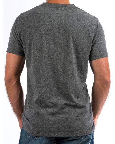 Cinch Men's Heather Charcoal Max5 Camo Logo Crew Neck Tee, Charcoal, hi-res