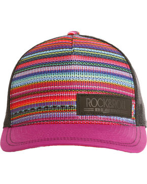 Rock & Roll Cowgirl Serape Mesh Trucker Cap, Multi, hi-res