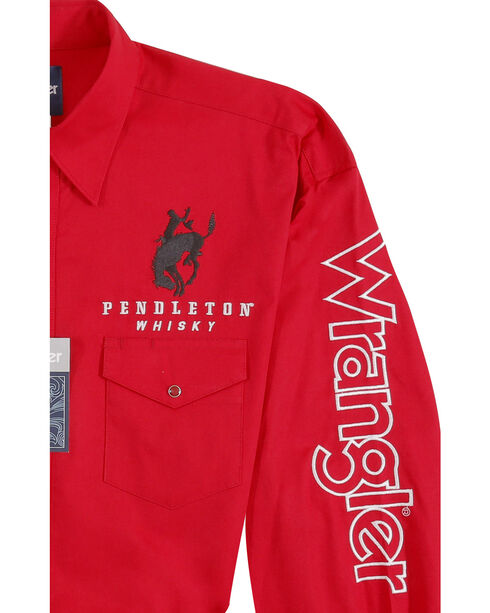 Wrangler Men's Red Pendleton Western Logo Shirt , Red, hi-res