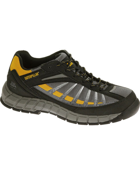 Caterpillar Men's Infrastructure Grey Work Shoes - Steel Toe , Grey, hi-res