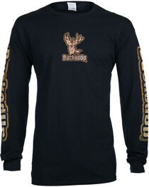 BuckedUp Men's Buckskin Long Sleeve T-Shirt, , hi-res