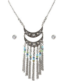 Shyanne® Women's Rhinestone and Beaded Jewelry Set, , hi-res