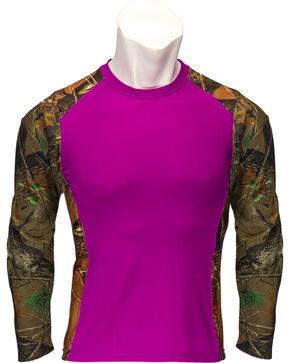 Trail Crest Women's Impulse 4-Way Stretch Long Sleeve Camo T-Shirt, Purple, hi-res
