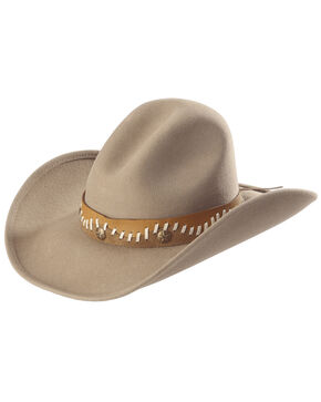 Bullhide Women's Pistol Creek Wool Hat, Sand, hi-res