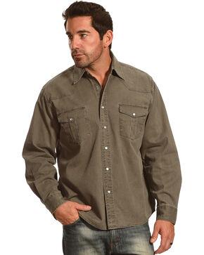 Crazy Cowboy Men's Legend Long Sleeve Western Work Shirt , Olive, hi-res