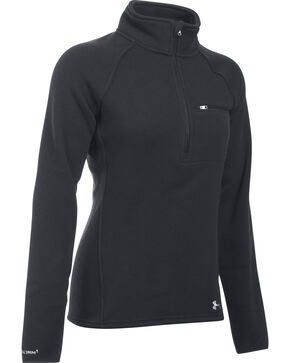 Under Armour Women's Wintersweet Half-Zip Pullover, Black, hi-res