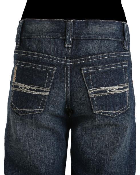 Cinch Boys' Tanner Dark Stonewash Slim Fit Jeans (8-18) - Boot Cut, Indigo, hi-res