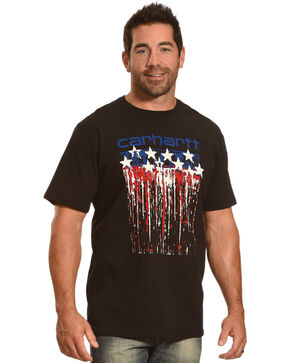 Carhartt Men's Falling Stars Short Sleeve T-Shirt, Black, hi-res