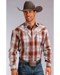 Stetson Men's Brick Western Plaid Shirt , , hi-res