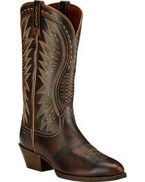 Ariat Ammorette Western Boots, Brown, hi-res