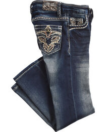 Grace in LA Girls' (4-6X) Charley Tinnies Jeans - Boot Cut , , hi-res