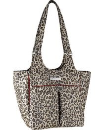 Ariat Mini Carry All Cheetah Print Poly Canvas Tote Bag, , hi-res
