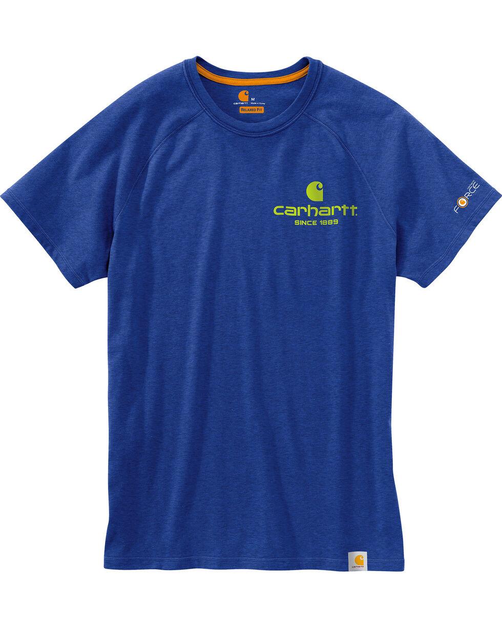 Carhartt Men's Blue Force Delmont 89 Graphic T-Shirt , Blue, hi-res