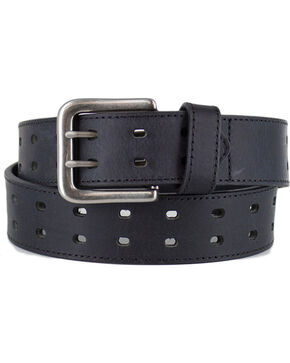 American Worker®  Men's Double Buckle Belt, Black, hi-res